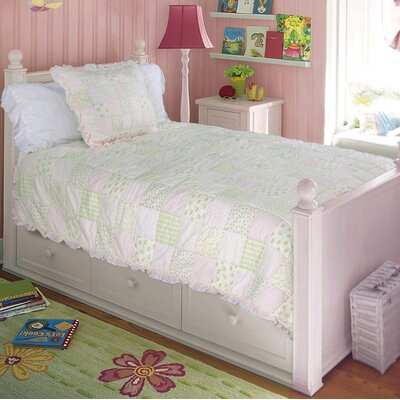 Pink Fairy 2 Piece Twin Quilt Set