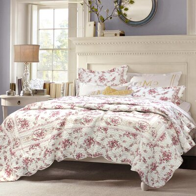 cozy line home fashion shabby elegance vintage rose quilt set size twin