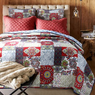 Vintage Cotton Quilt Set Size: Full/Queen