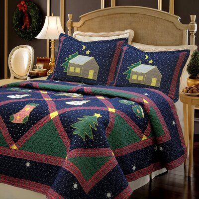 Christmas Night Quilt Set Size: Twin