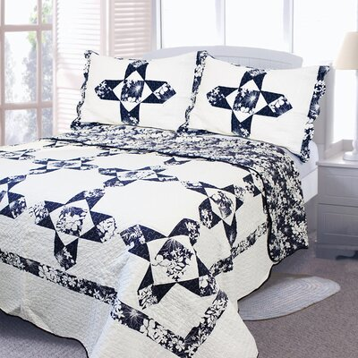 Nostalgia Traditional Patchwork 3 Piece Quilt Set Size: King