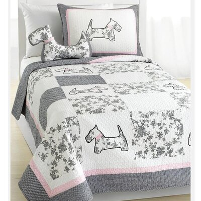 Scottie Pup Quilt Set Size: Full/Queen