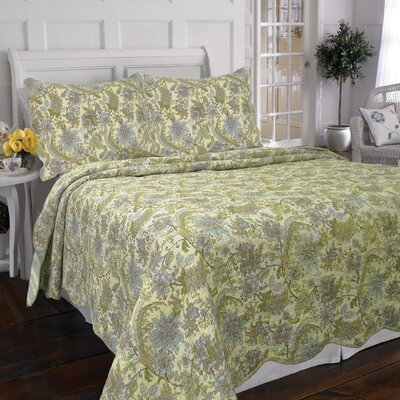 Rainforest Garden 3 Piece Quilt Set Size: King