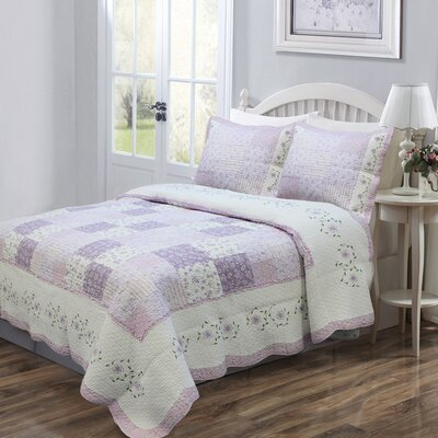 Love of Lilac Quilt Set Size: Full/Queen