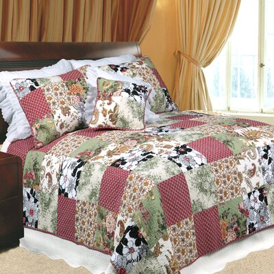 Julies Garden 3 Piece Quilt Set Size: Full/Queen