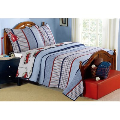 Ansel Reversible Quilt Set Size: Twin