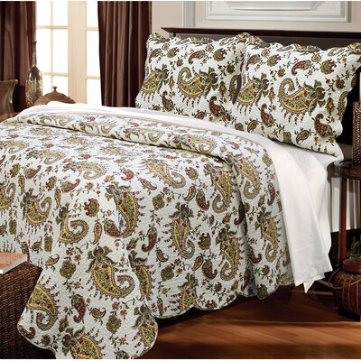 Peace of Mind 3 Piece Quilt Set Size: Full/Queen