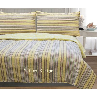 William Stripe 3 Piece Full/Queen Quilt Set Color: Yellow