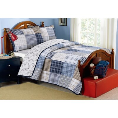 Benjamin Cotton Reversible Quilt Set Size: King
