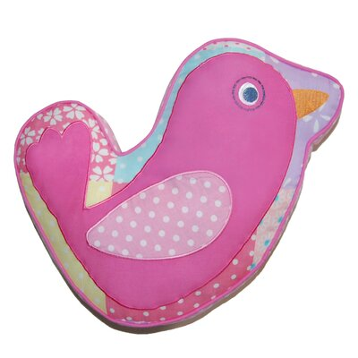 Pink Bird Decorative Cotton Pillow