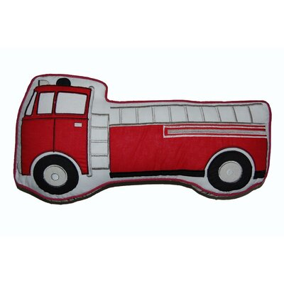 Decorative Fire Truck Cotton Pillow