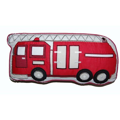 Fire Truck Decorative Cotton Throw Pillow
