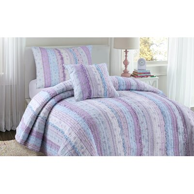 Romantic Chic Quilt Set Size: Twin, Color: Lavender