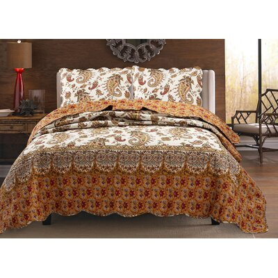 Renaissance 3 Piece Quilt Set Size: King