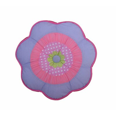 Blossom Round Flower 100% Cotton Throw Pillow