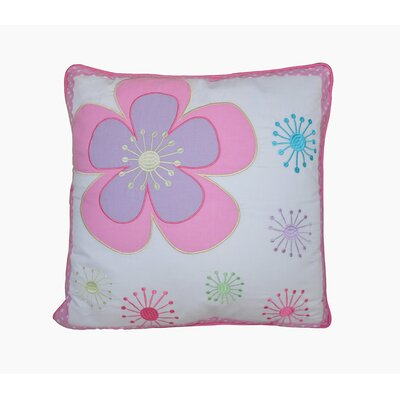 Blossom Floral 100% Cotton Throw Pillow