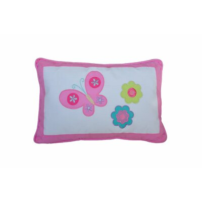 Butterfly Flower 100% Cotton Lumbar Pillow