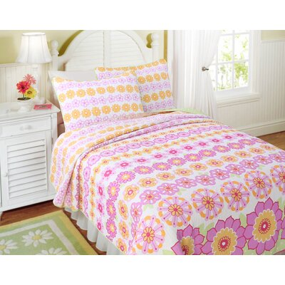 Summer Flower Reversible Quilt Set Size: Twin
