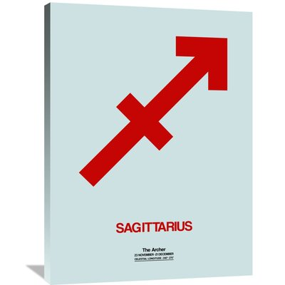 'Sagittarius Zodiac Sign' Painting Print on Wrapped Canvas Size: 40