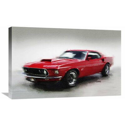 '1969 Ford Mustang' Painting Print on Wrapped Canvas Size: 20