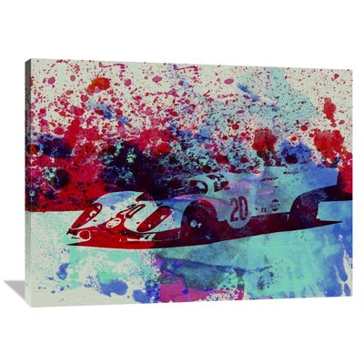 'Porsche 917 Gulf' Painting Print on Wrapped Canvas Size: 36