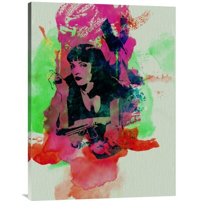 'Mia Wallace Pulp Fiction' Graphic Art Print on Canvas GCS-449599-1216-142