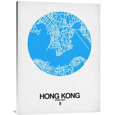 'Hong Kong Street Map Blue' Graphic Art Print on Canvas GCS-458507-1216-142
