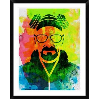 'Walter White Breaking Bad' Framed Graphic Art Print DPF-449602-2432-313