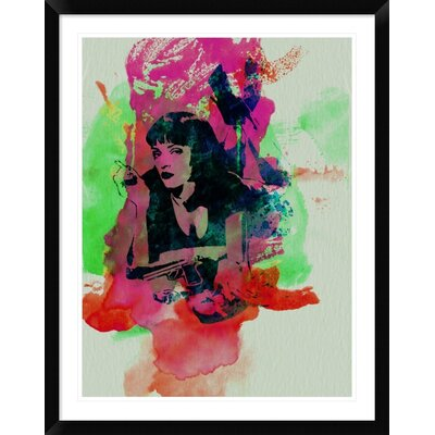 'Mia Wallace Pulp Fiction' Framed Graphic Art Print DPF-449599-2432-313