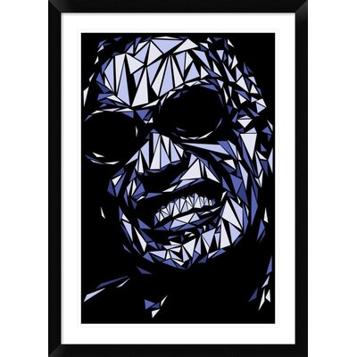 "'Ray Charles' Framed Graphic Art Print Size: 36"" H x 26"" W x 1.5"" D DPF-459714-2030-313"