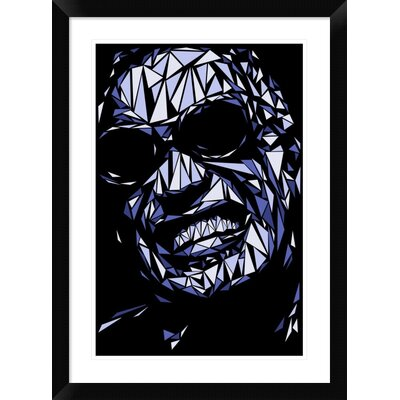 "'Ray Charles' Framed Graphic Art Print Size: 30"" H x 22"" W x 1.5"" D DPF-459714-1624-313"