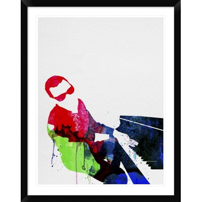 "'Ray' Framed Watercolor Painting Print Size: 38"" H x 30"" W x 1.5"" D DPF-458839-2432-313"