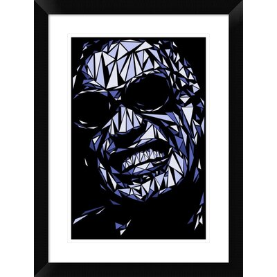 "'Ray Charles' Framed Graphic Art Print Size: 24"" H x 18"" W x 1.5"" D DPF-459714-1218-313"
