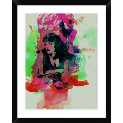 'Mia Wallace Pulp Fiction' Framed Graphic Art Print DPF-449599-1824-313