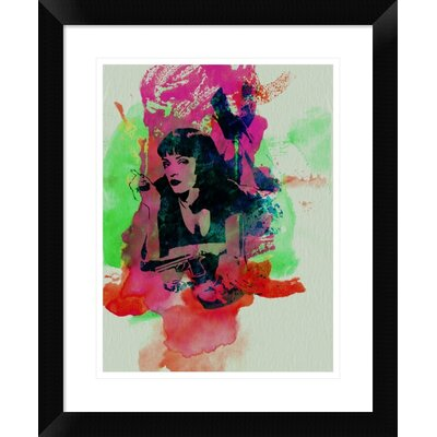 'Mia Wallace Pulp Fiction' Framed Graphic Art Print DPF-449599-1216-313