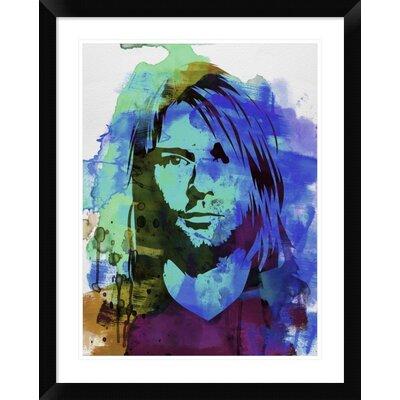 "'Kurt Cobain ' Framed Watercolor Painting Print Size: 30"" H x 24"" W x 1.5"" D DPF-454018-1824-313"