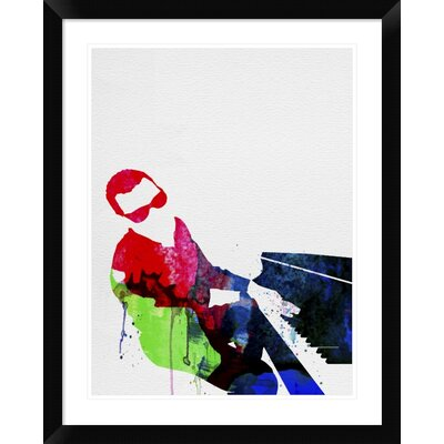 "'Ray' Framed Watercolor Painting Print Size: 30"" H x 24"" W x 1.5"" D DPF-458839-1824-313"