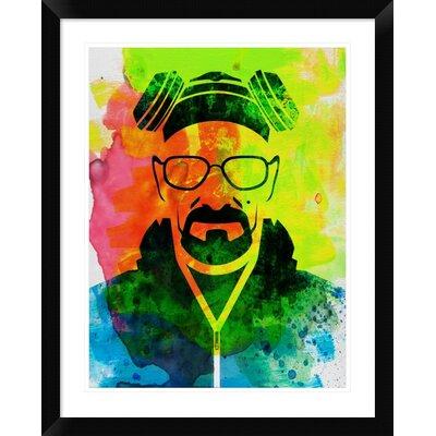 'Walter White Breaking Bad' Framed Graphic Art Print DPF-449602-1824-313