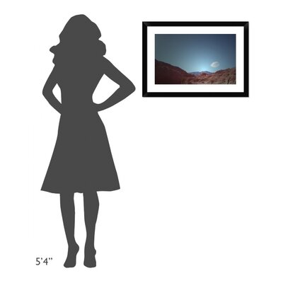 """'Lonely Cloud' Framed Photographic Print Size: 19.86"""" H x 28"""" W x 1.5"""" D DPF-392163-22-313"""