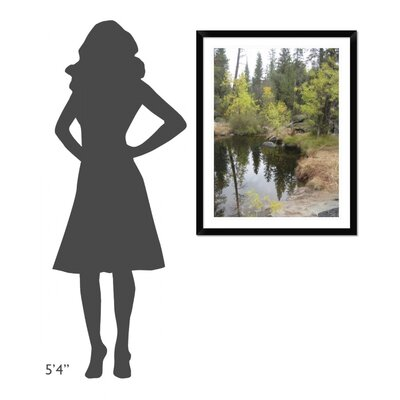 'Lake in Sierras' Framed Photographic Print DPF-392229-1216-313