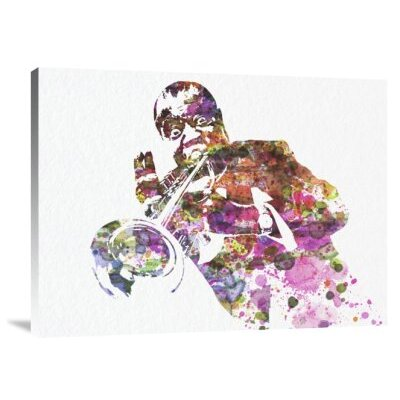 'Louis Armstrong 2' Graphic Art Print on Canvas GCS-398881-1216-142