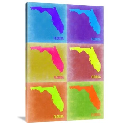 'Florida Pop Art Map 2' Graphic Art Print on Canvas GCS-399992-1218-142