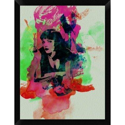 'Mia Wallace Pulp Fiction' Framed Graphic Art Print on Canvas GCF-449599-2432-314