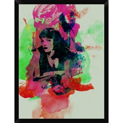 'Mia Wallace Pulp Fiction' Framed Graphic Art Print on Canvas GCF-449599-3040-314