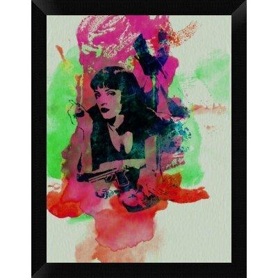 'Mia Wallace Pulp Fiction' Framed Graphic Art Print on Canvas GCF-449599-1824-314
