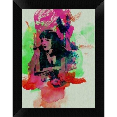 'Mia Wallace Pulp Fiction' Framed Graphic Art Print on Canvas GCF-449599-1216-314