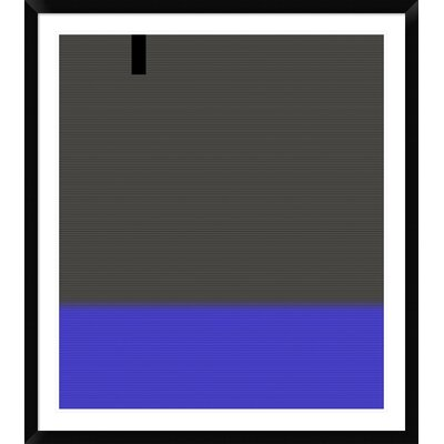 """'Abstract White Stripes' Framed Print Size: 42"""" H x 37"""" W x 1.5"""" D DPF-391863-36-313"""