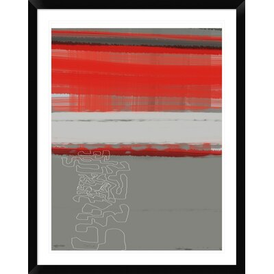 """'Abstract Red 1' Framed Print Size: 38"""" H x 30"""" W x 1.5"""" D DPF-391934-2432-313"""
