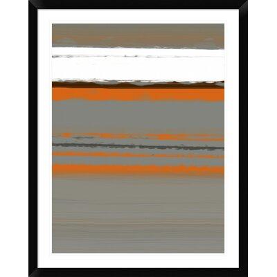 "'Abstract Orange 2' Framed Print Size: 38"" H x 30"" W x 1.5"" D DPF-391939-2432-313"