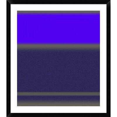 "'Abstract Purple' Framed Print Size: 36"" H x 32"" W x 1.5"" D DPF-391864-30-313"